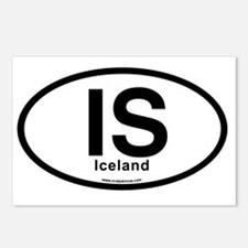 IS - Iceland Oval Postcards (Package of 8)