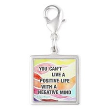 Words of Wisdom 3 Silver Square Charm