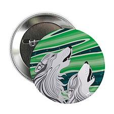 """Howling Aurora Huskies 2.25"""" Button"""