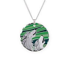 Howling Aurora Huskies Necklace