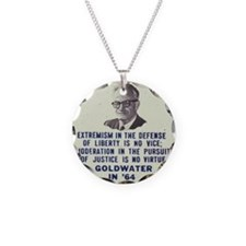 Goldwater button Necklace