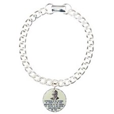 Goldwater button Charm Bracelet, One Charm