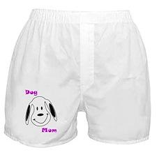 Dog Mom Floppy Pink Boxer Shorts