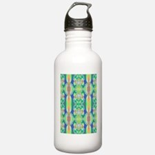 fractal floral curtain Water Bottle