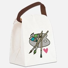 Painter's Palette Canvas Lunch Bag