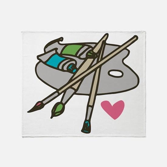 Painter's Palette Throw Blanket