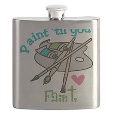 Paint 'Til You Faint Flask