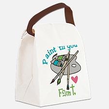 Paint 'Til You Faint Canvas Lunch Bag