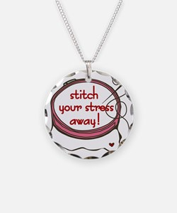 Stitch Your Stress Away Necklace