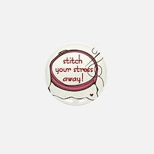 Stitch Your Stress Away Mini Button