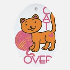Cat Lover Oval Ornament