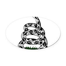 Gadsden Flag Oval Car Magnet