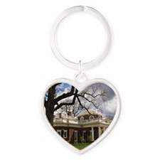 Monticello 12X18 Heart Keychain