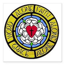 "Grace Faith Word Sq CM Square Car Magnet 3"" x 3"""