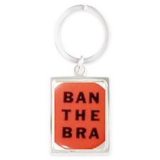Ban the Bra Portrait Keychain