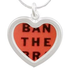 Ban the Bra Silver Heart Necklace