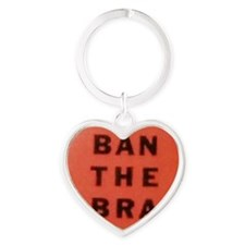 Ban the Bra Heart Keychain