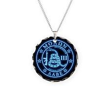 Square - Molon Labe - Blue G Necklace