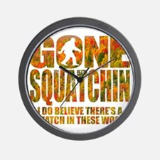 Gone Squatchin *Special Fall Foliage Ed Wall Clock
