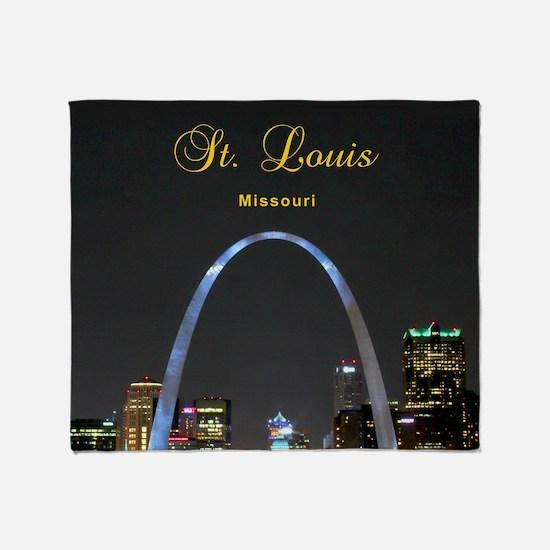 StLouis_8.887x11.16_iPadSleeve_ArchA Throw Blanket