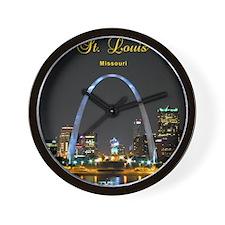 StLouis_8.887x11.16_iPadSleeve_ArchAtNi Wall Clock