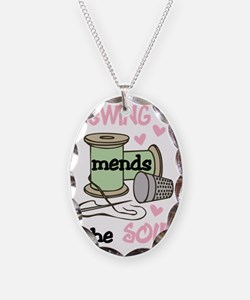 Sewing Mends The Soul Necklace