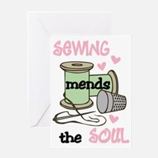 Sewing Mends The Soul Greeting Card