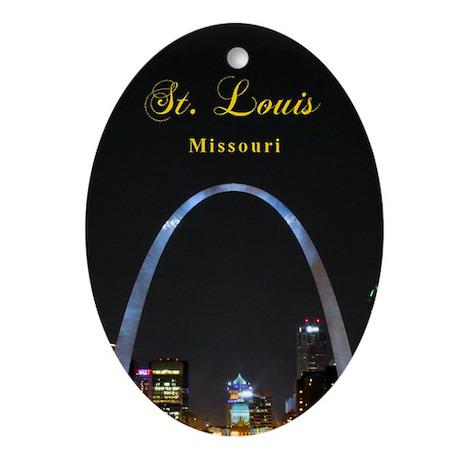 St Louis Gateway Arch Oval Ornament