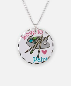 Love To Paint Necklace