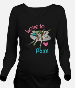 Love To Paint Long Sleeve Maternity T-Shirt