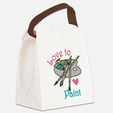 Love To Paint Canvas Lunch Bag