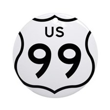 US 99 Round Ornament