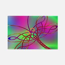 Celtic Dragonfly Dark Rectangle Magnet