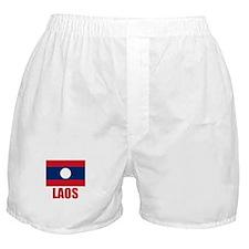 Laos Flag Boxer Shorts