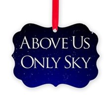above us only sky Ornament