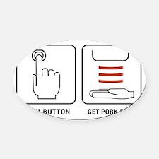 GetPork Oval Car Magnet