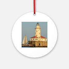 Chicago Harbor Lighthouse  Round Ornament