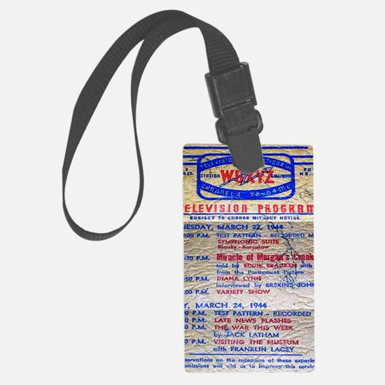 w6xyz tv schedule Large Luggage Tag