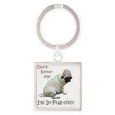 Funny In-Pug-nito! Pug Dog Square Keychain