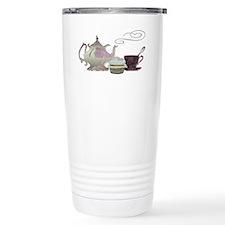 Pink Teapot, Teacup and Travel Mug