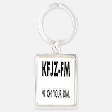 KFJZ-FM Portrait Keychain
