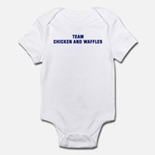 Team CHICKEN AND WAFFLES Infant Bodysuit