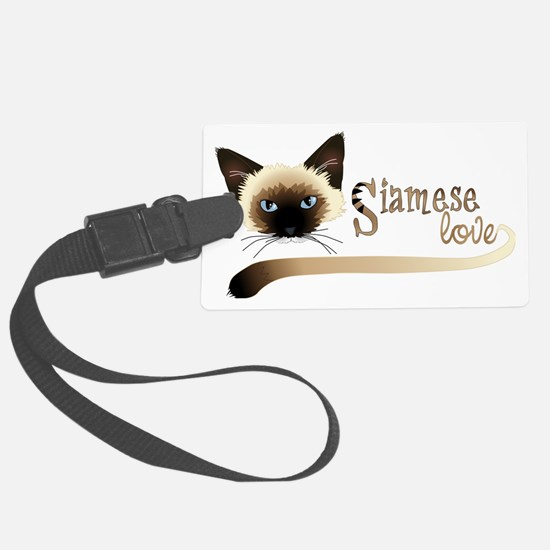 Siamese LOVE Luggage Tag