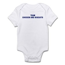Team CHICKEN AND BISCUITS Infant Bodysuit