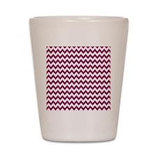 zigzag white purple Shot Glass