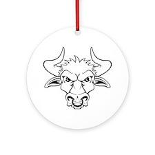 Bull Round Ornament