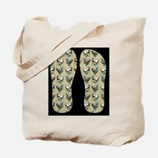 Vintage Chickens Tote Bag