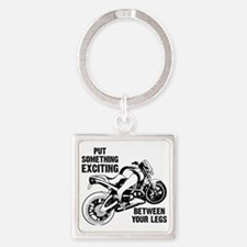 Between Your Legs Square Keychain