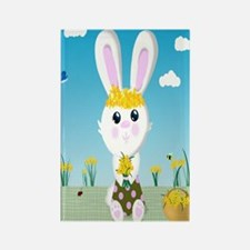 Bunny and daffodils (j) Rectangle Magnet