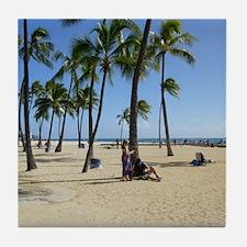 Waikiki Beach Tile Coaster